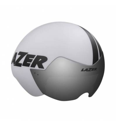 HELMET LAZER VICTOR WHITE MATT STRIPES