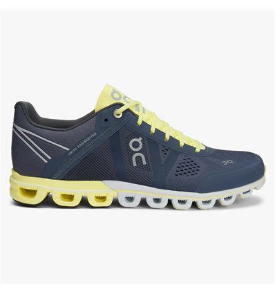 WOMAN ON CLOUDFLOW SMOKE LIMELIGHT SNEAKERS - ON RUNNING