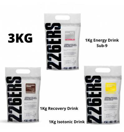 PACK 3KG CON ENERGY DRINK SUB9 + ISOTONIC + RECOVERY - 226ERS