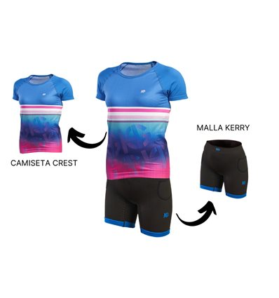 PACK MUJER CAMISETA CREST + MALLA KERRY - SPORT HG