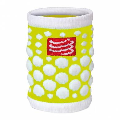 MUÑEQUERA FLUO AMARILLO - COMPRESSPORT