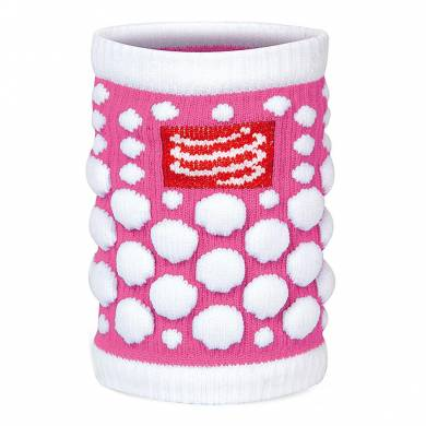 MUÑEQUERA FLUO ROSA - COMPRESSPORT