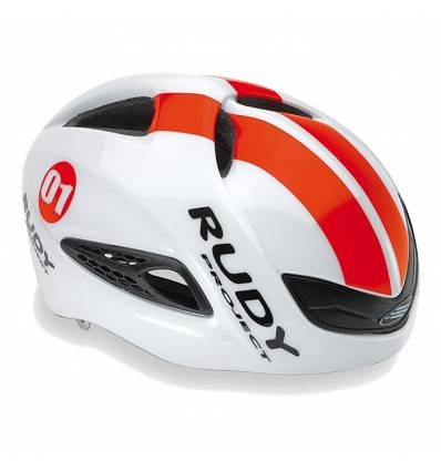 CASCO RUDY PROJECT BOOST1 WHITE - RED FLOU SHINY