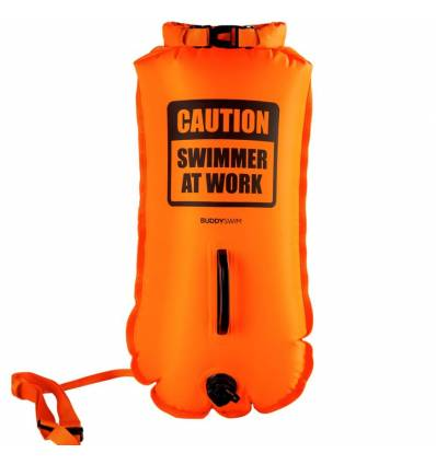 Drybag Buoy BuddySwim CAUTION 28lt, Orange