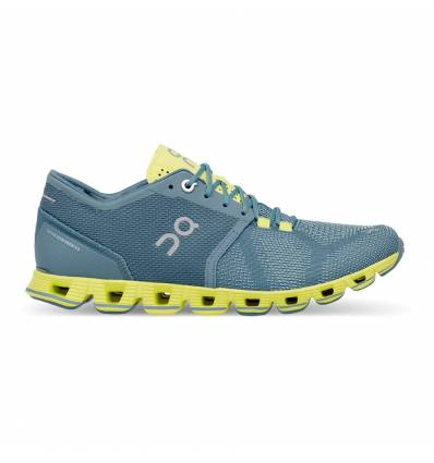 RUNNING SHOES ON CLOUD X NIAGARA & LIME FOR WOMAN - ON RUNNING