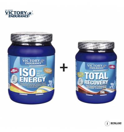 PACK ISO ENERGY 900gr + TOTAL RECOVERY 750gr - VICTORY ENDURANCE