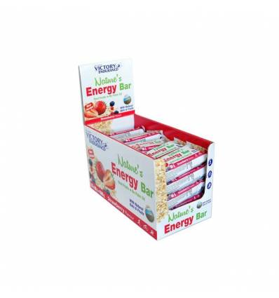 NATURE´S ENERGY BAR STRAWBERRY 25 x 60 G - VICTORY ENDURANCE