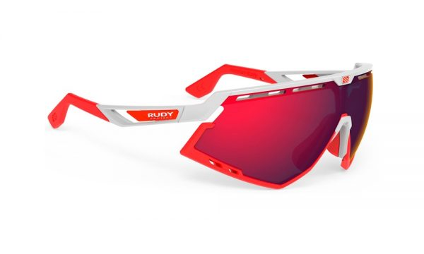 GAFAS DEFENDER WHITE GLOSS BUMPERS RED MULTILASER RED - RUDY PROJECT